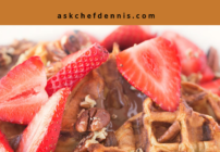 Pinterest image for Waffle Iron Banana Stuffed French Toast