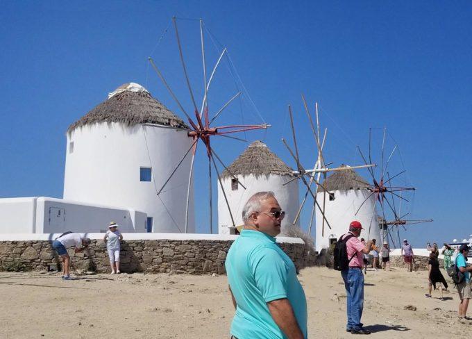 Chef Dennis by the windmills on Mykonos thanks to CBD Hemp Oil