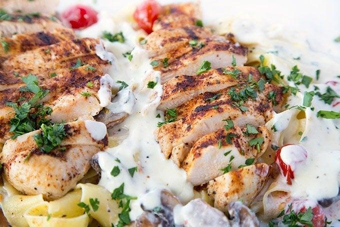 Grilled Chicken Alfredo Recipe With Pappardelle Chef Dennis