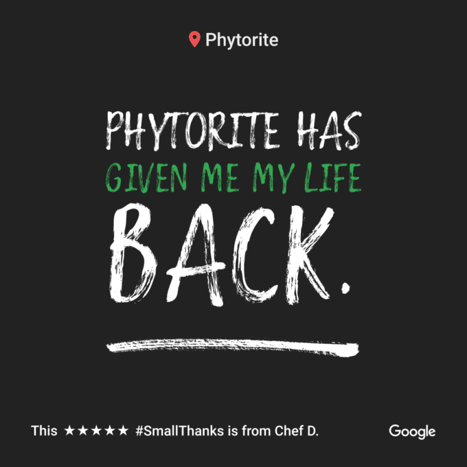 phytorite has given me my life back