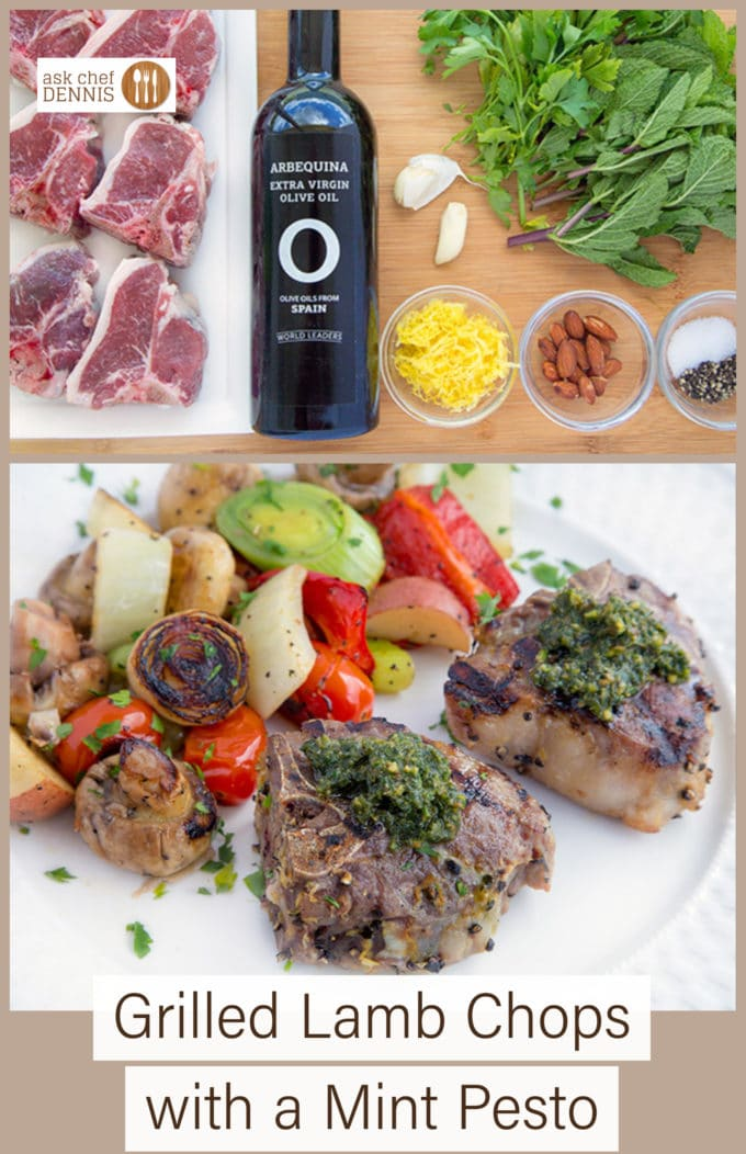 What's going on your grill this weekend? How about trying my Marinated Grilled Lamb Chops with a Mint Pesto? Click on this link to see why I use Extra Virgin Olive Oils from Spain-> http://www.tastethetruth.org #ad #oliveoilsfromspain #oliveleaks #tastethetruth