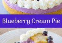pinterest image blueberry cream pie