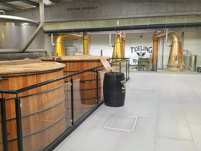 inside the Teeling Whiskey Distillery in Dublin Irleland