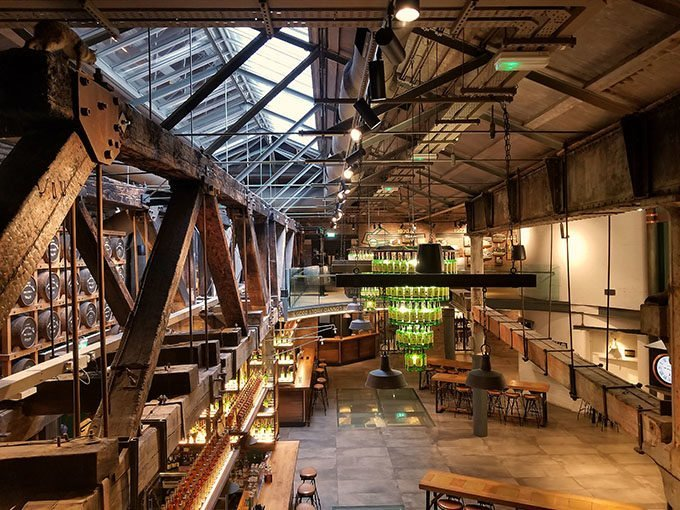 inside the Jameson Distillery in Dublin Ireland