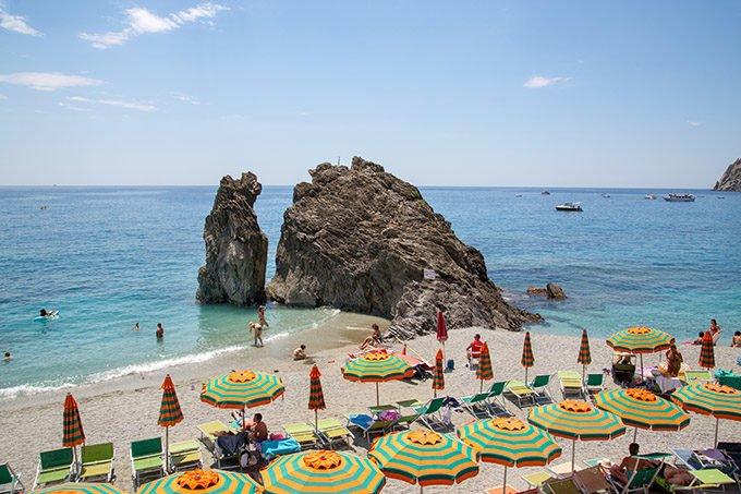 beach at Monterosso in the Cinque Terra