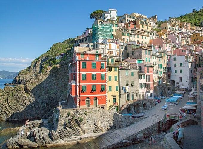 view of Rio Maggiore in the Cinque Terra Italy