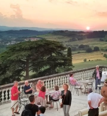 sunset in Tuscany from the Villa Lecchi