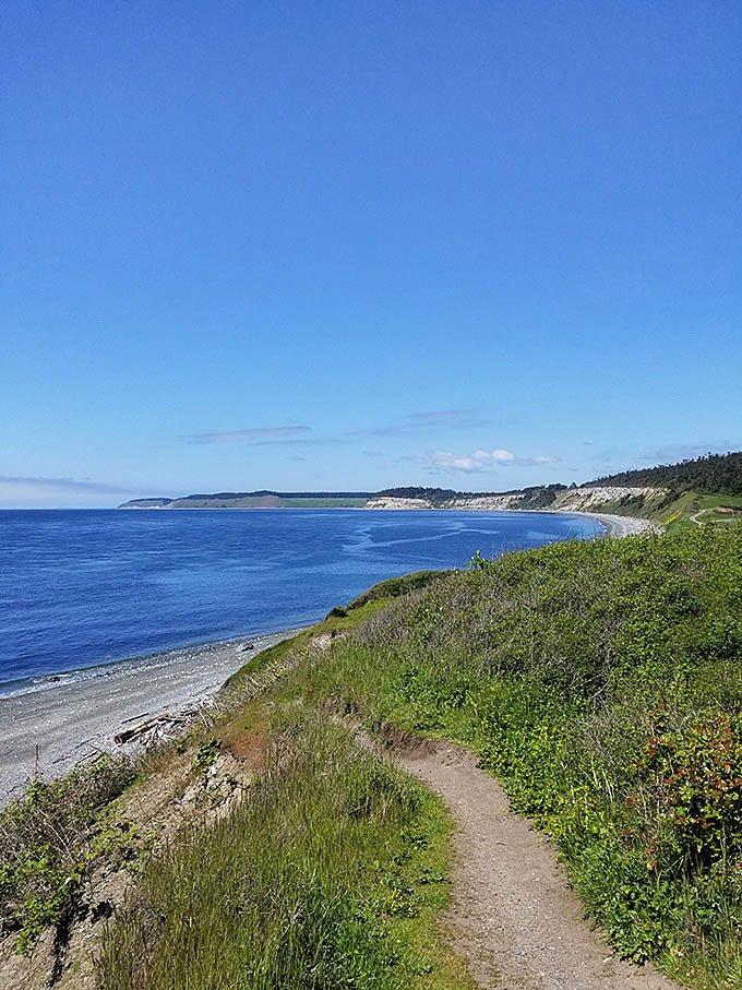 The shoreline of Whidbey Island Washington