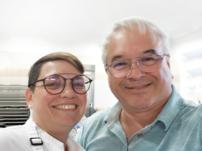 Viking Cruises Regional Executive Chef Magalie Kaufling with Chef Dennis