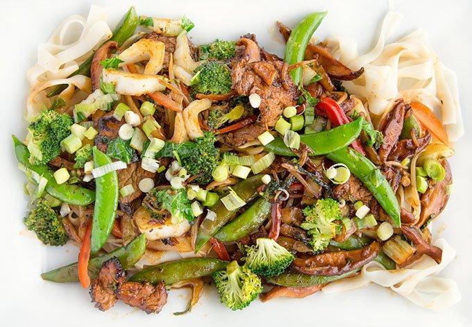 Stir Fried Pork with Ho Fun Noodles