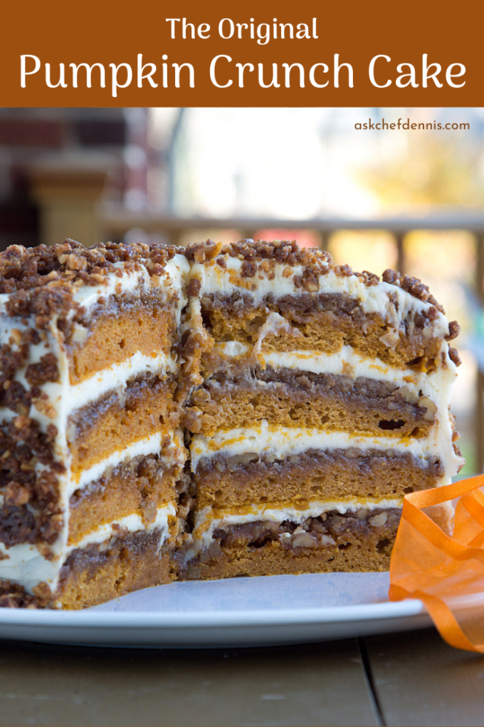 pinterest image for pumpkin crunch cake