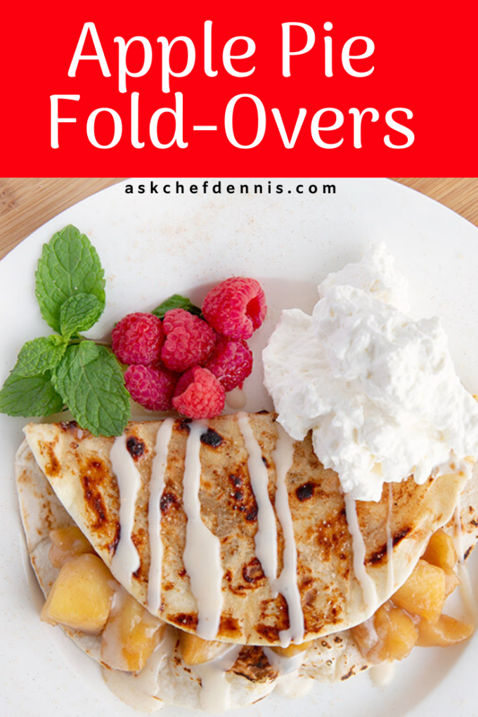 Pinterest image for apple pie fold-overs