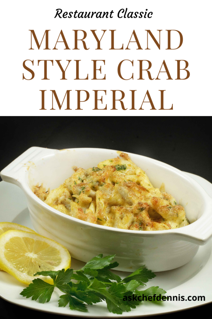 Pinterest image for crab imperial