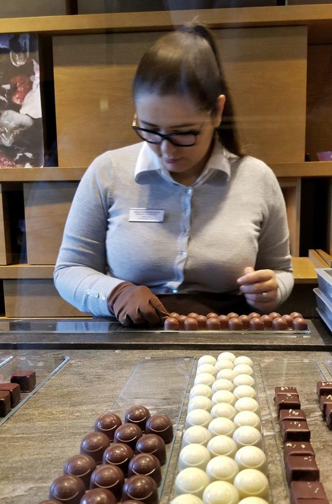 chocolates at Max Chocolatier in Lucerne Switzerland