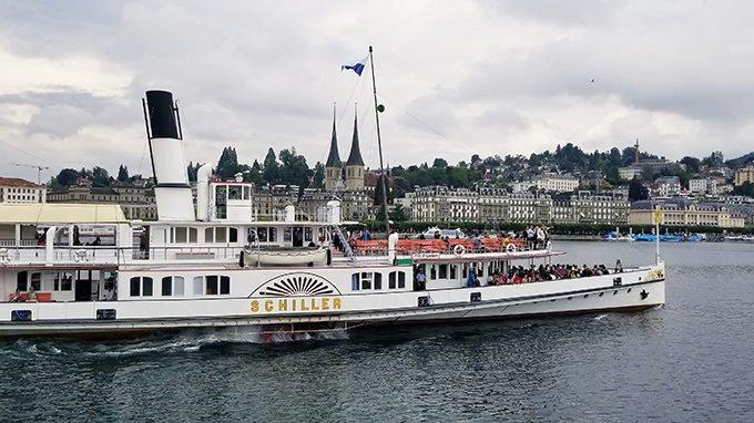 PS Schiller on Lake Lucerne