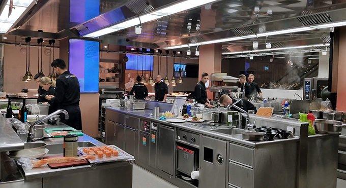 Montana Kitchen Club Open Kitchen with Chefs Working