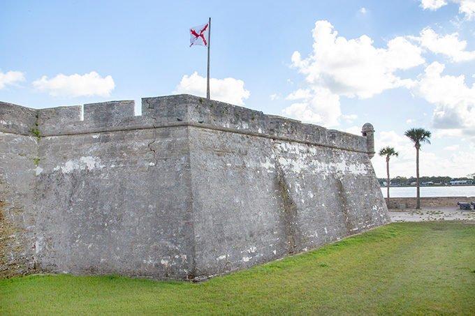 Castillo de San Marcos in St Augustine, Florida
