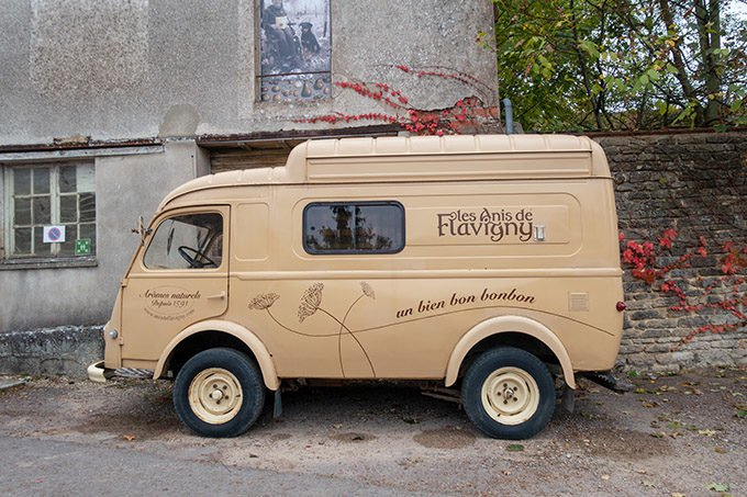 van for Anis de Flavigny sitting in the roadway