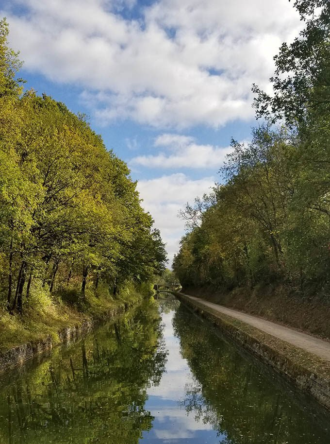canal in Northern Burgundy France