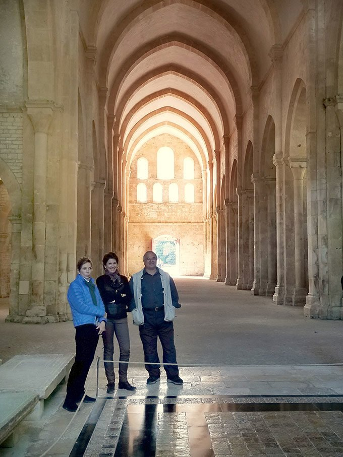 inside of Fontenay Abbey Church