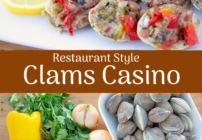Pinterest image for clams casino
