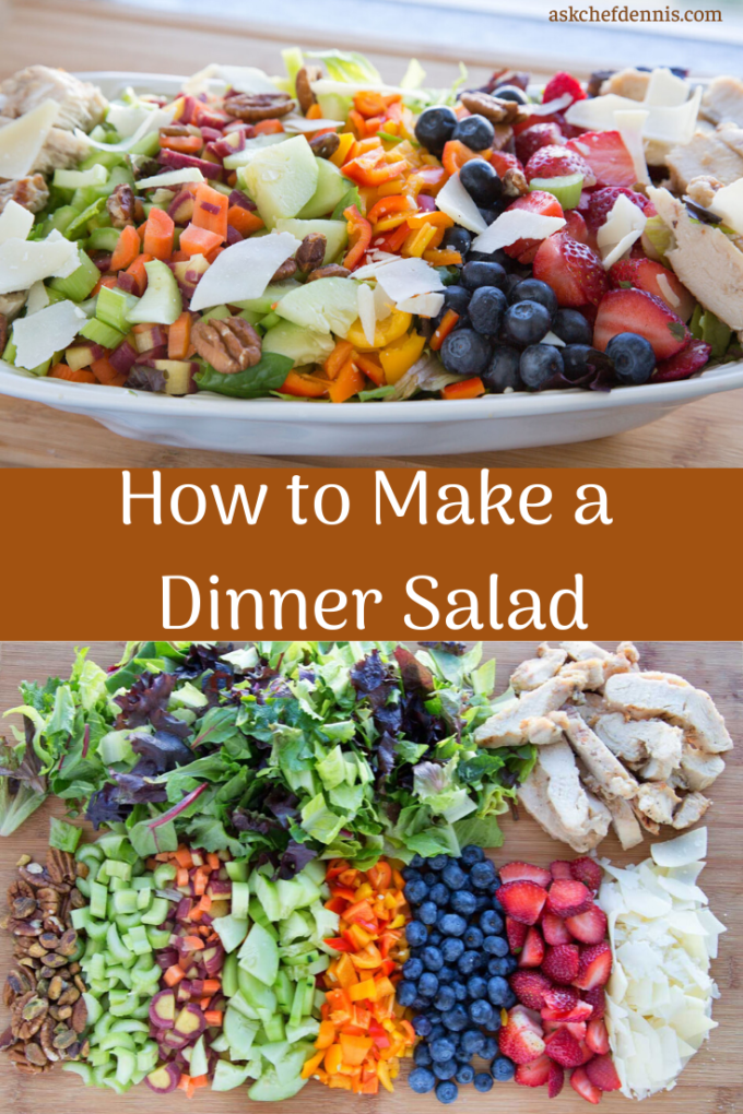 pinterest image for diner salad