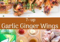 pinterest image for ginger garlic wings
