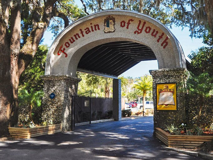 entrance to the Fountain of Youth in St. Augustine