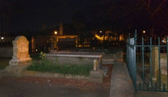 night time in a graveyard in St. Augustine