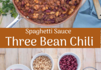 pinterest image for three bean chili