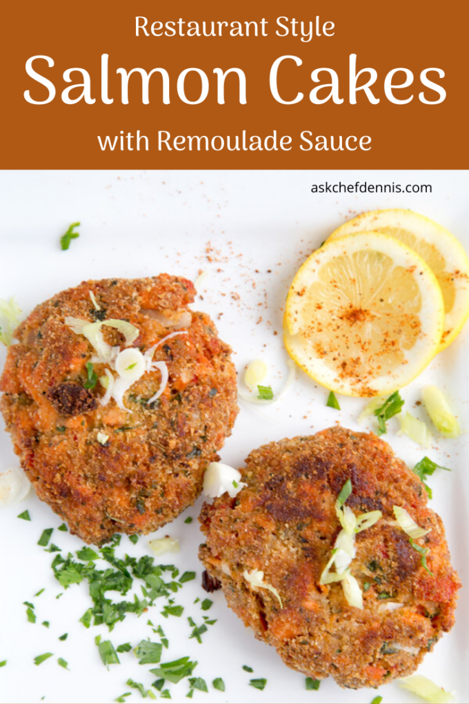 Pinterest image for salmon cakes