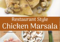 pinterest image for chicken marsala
