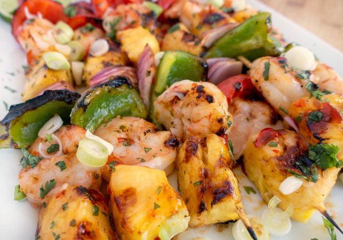 Grilled Shrimp and Pineapple Skewers Recipe - Chef Dennis
