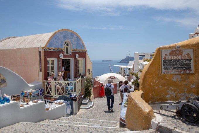 buildings in Oia on Santorini