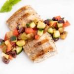 Restaurant Style Grilled Mahi-Mahi with Caponata