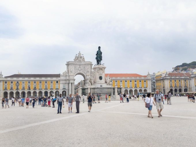 view of Commerce Square in Lisbon, Portugal