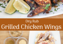 Pinterest image for grilled dry rub chicken wings