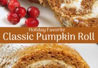 Pinterest image for pumpkin roll