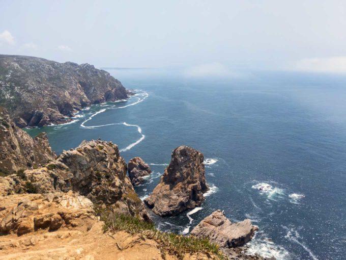 view of the sea in Cabo de Roca Portugal