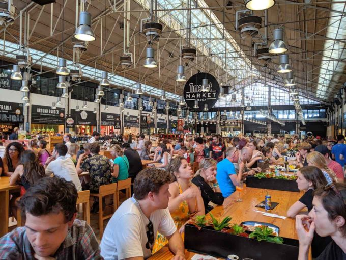 inside the Time Out Market in Lisbon