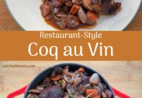 pinterest image for coq au vin