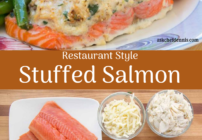 pinterest image for stuffed salmon