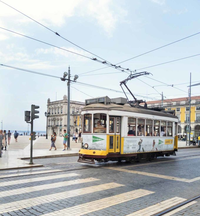 street car in lisbon