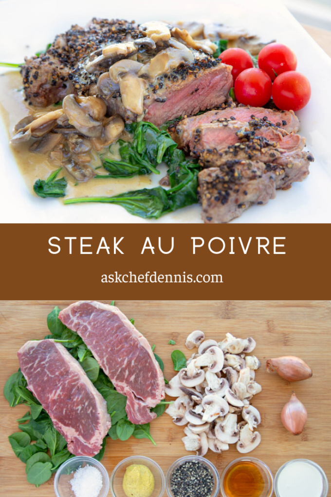 Pinterest image for steak au poivre
