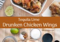 Pinterest image for drunken chicken wings