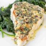 Ginger Garlic Pan Roasted Swordfish- A Restaurant Classic