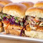 Blackened Salmon Sliders with an Asian Slaw