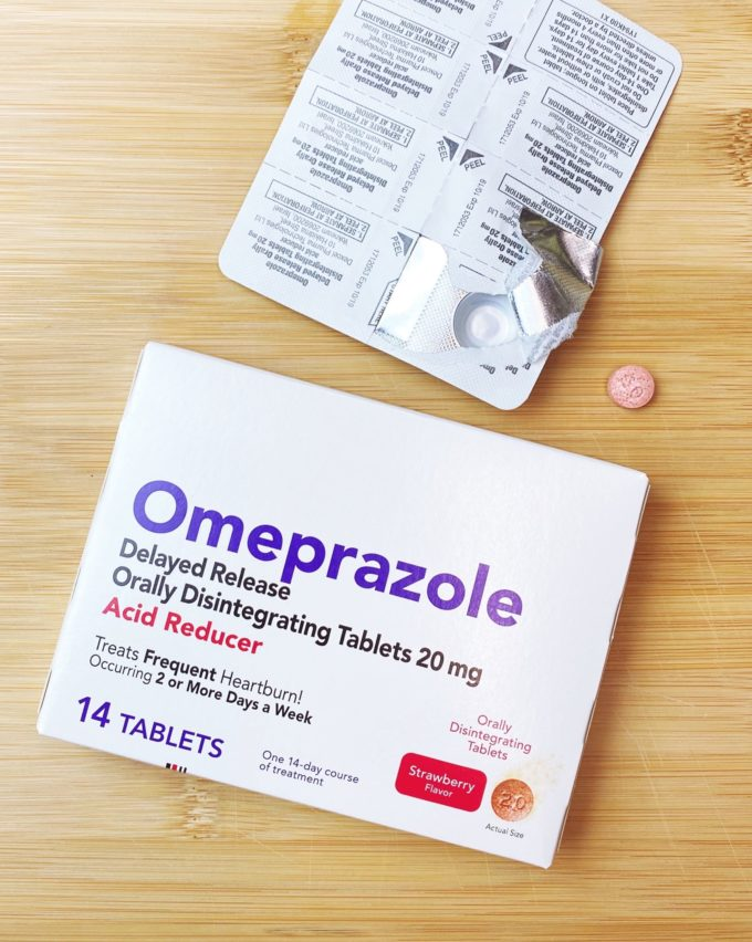 image of omeprazole box and pill pack
