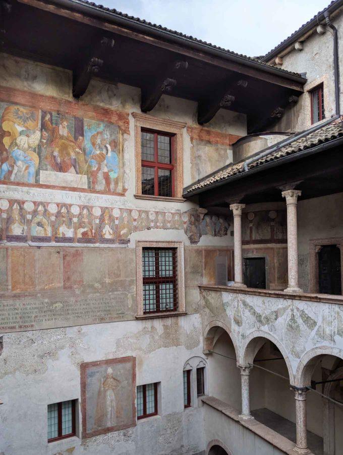 frescoes in Buonconsiglio castle