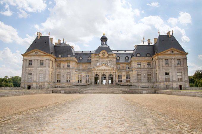 front view of The Château de Vaux-le-Vicomte